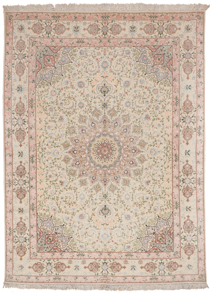 Very  Fine Tabriz Signed Rug at Essie Carpets, Mayfair London