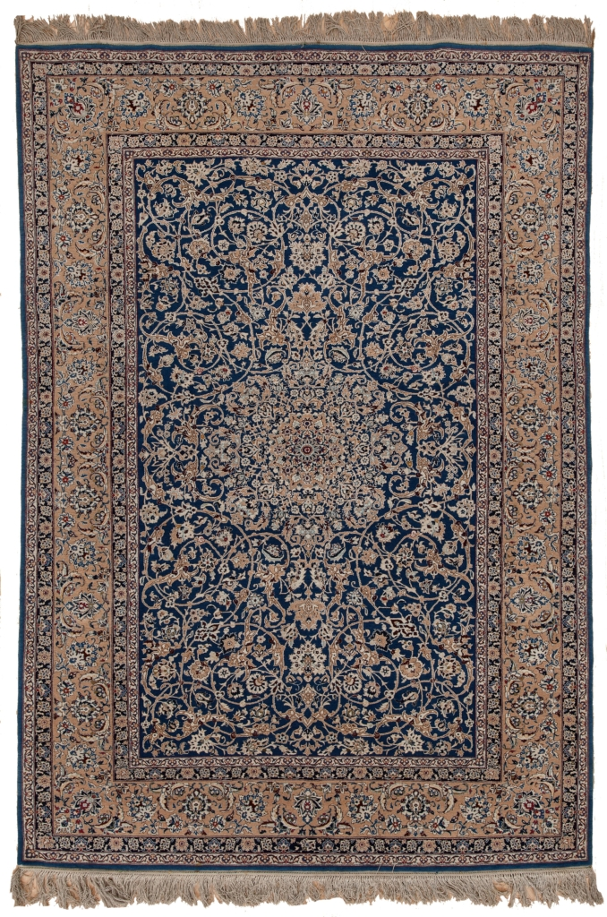 Old Fine Persian Nain Todeshk Rug at Essie Carpets, Mayfair London