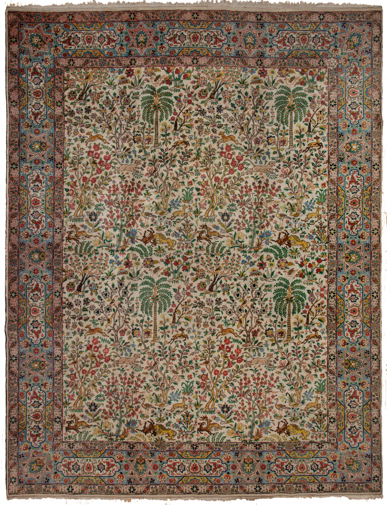 Old Very Fine Persian Tabriz Signed Carpet at Essie Carpets, Mayfair London