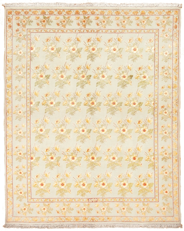 Extremely Fine and Rare Signed Persian Tabriz  Rug at Essie Carpets, Mayfair London