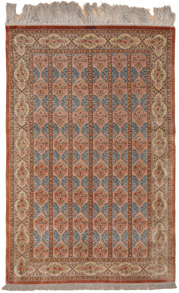 Extremely Fine Persian Qum. Signed and Rare Rug at Essie Carpets, Mayfair London
