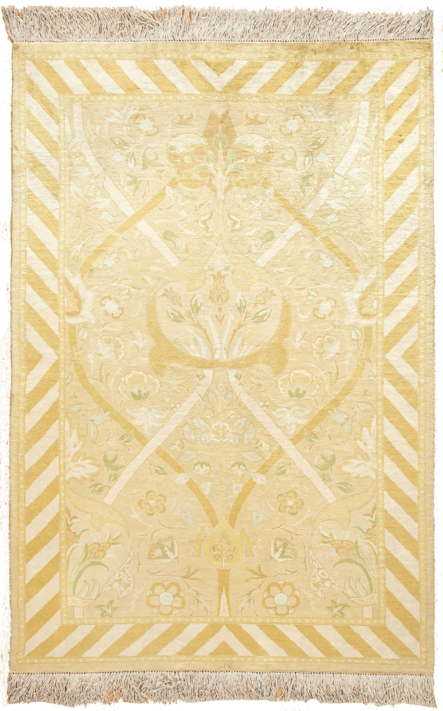 Very Fine Persian  William Morris Tabriz Signed Rug at Essie Carpets, Mayfair London
