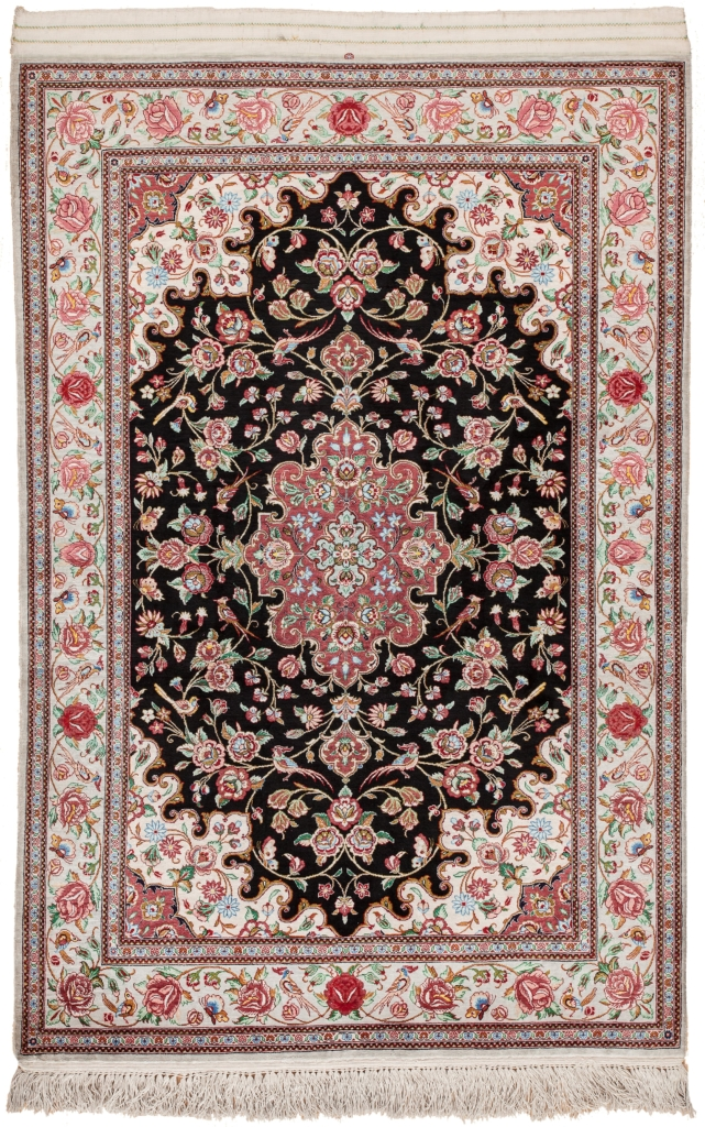 Pure Silk Persian Qum Rug at Essie Carpets, Mayfair London