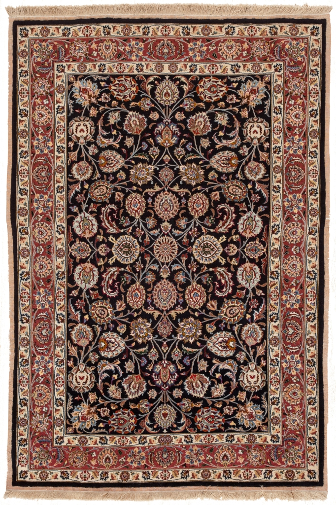 Very Fine Old Persian Mashad Rug at Essie Carpets, Mayfair London