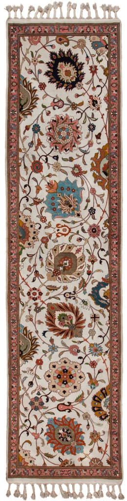 Signed Persian Tabriz Runner at Essie Carpets, Mayfair London