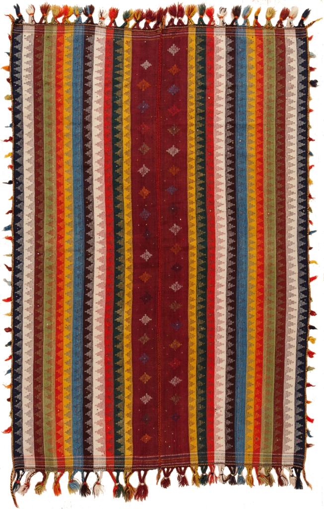 Persian Qashqai Moharamat Kilim at Essie Carpets, Mayfair London