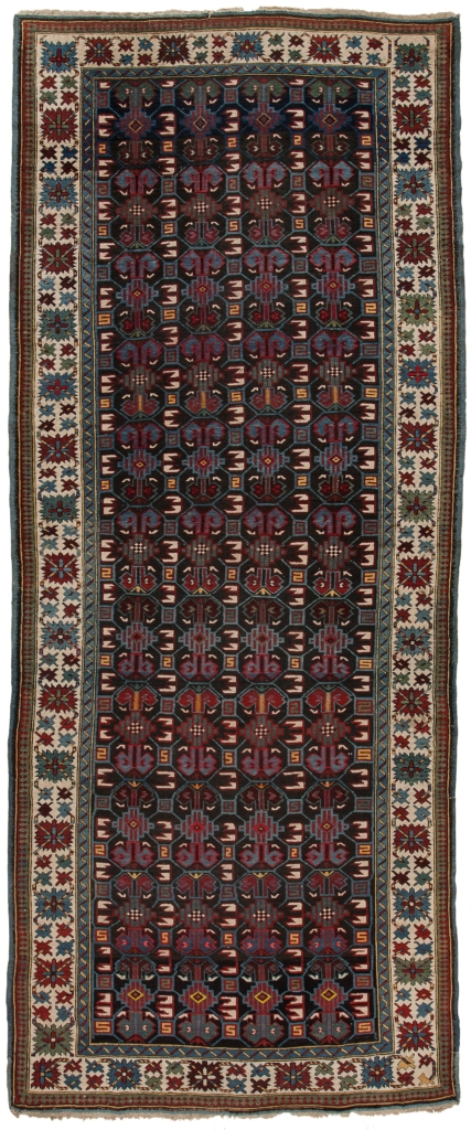 Old Russian Shirvan Runner Kilim I Runner at Essie Carpets, Mayfair London