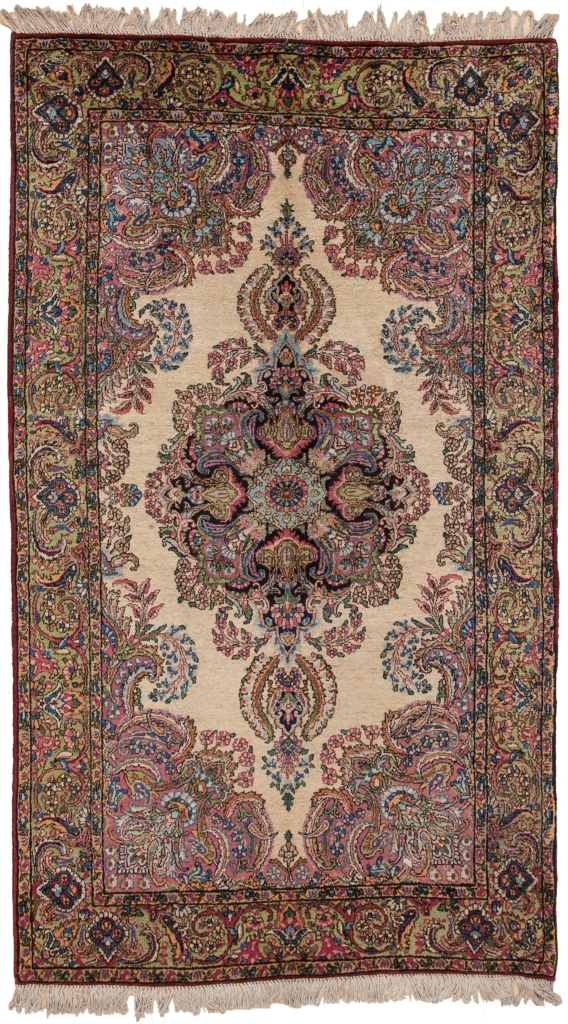 Extremley Fine Old Persian Kerman Rug at Essie Carpets, Mayfair London