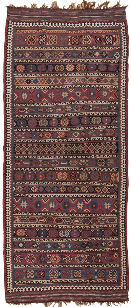 Antique Persian Qashqai Gallery  Kilim at Essie Carpets, Mayfair London
