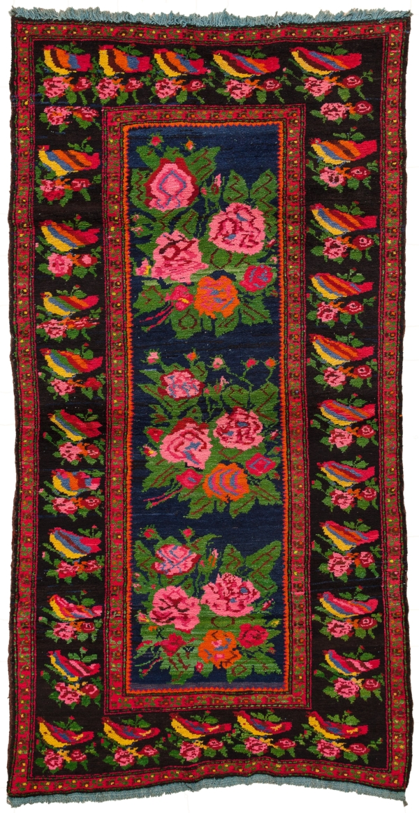 Russian Karabakh Gol Farangi Rug at Essie Carpets, Mayfair London