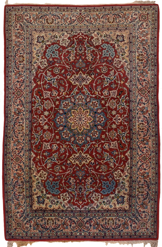 Extremely Fine Persian Esfahan Rug at Essie Carpets, Mayfair London