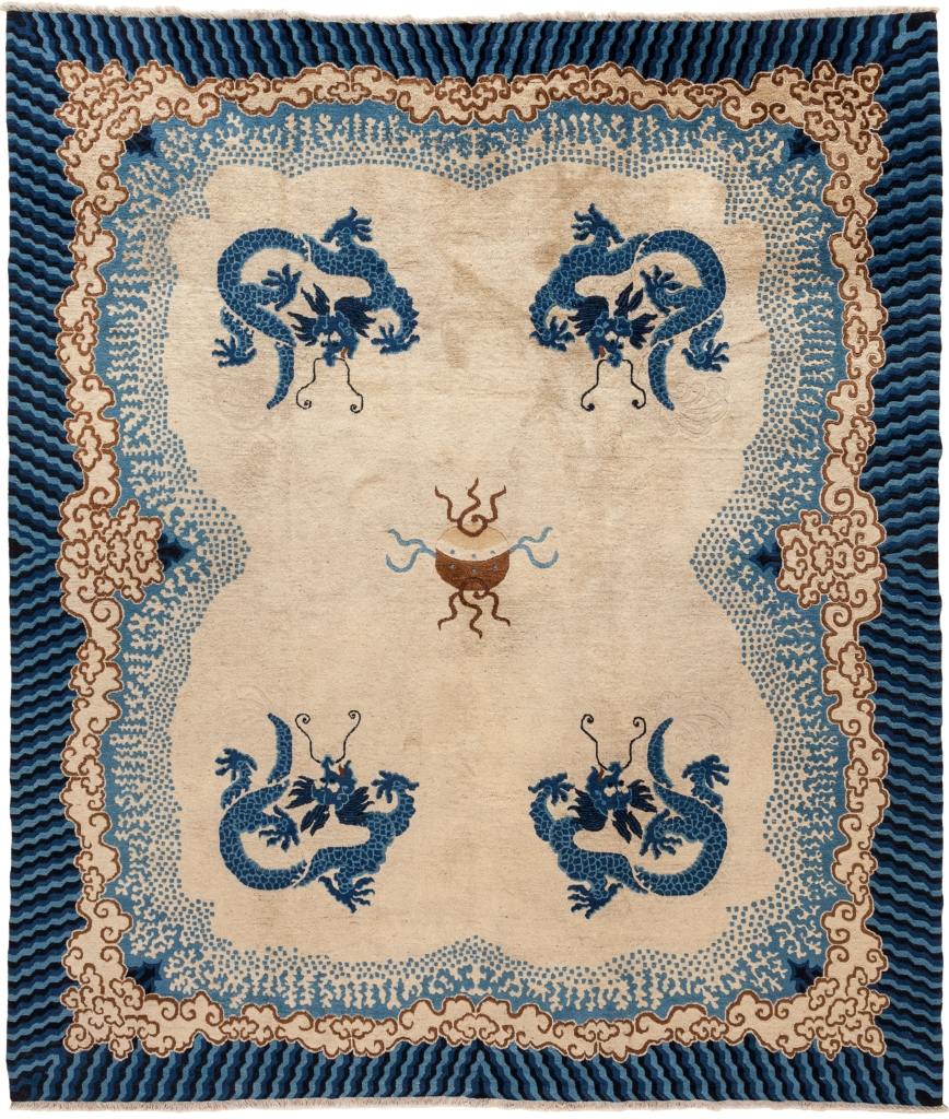 Square Chinese Rug at Essie Carpets, Mayfair London