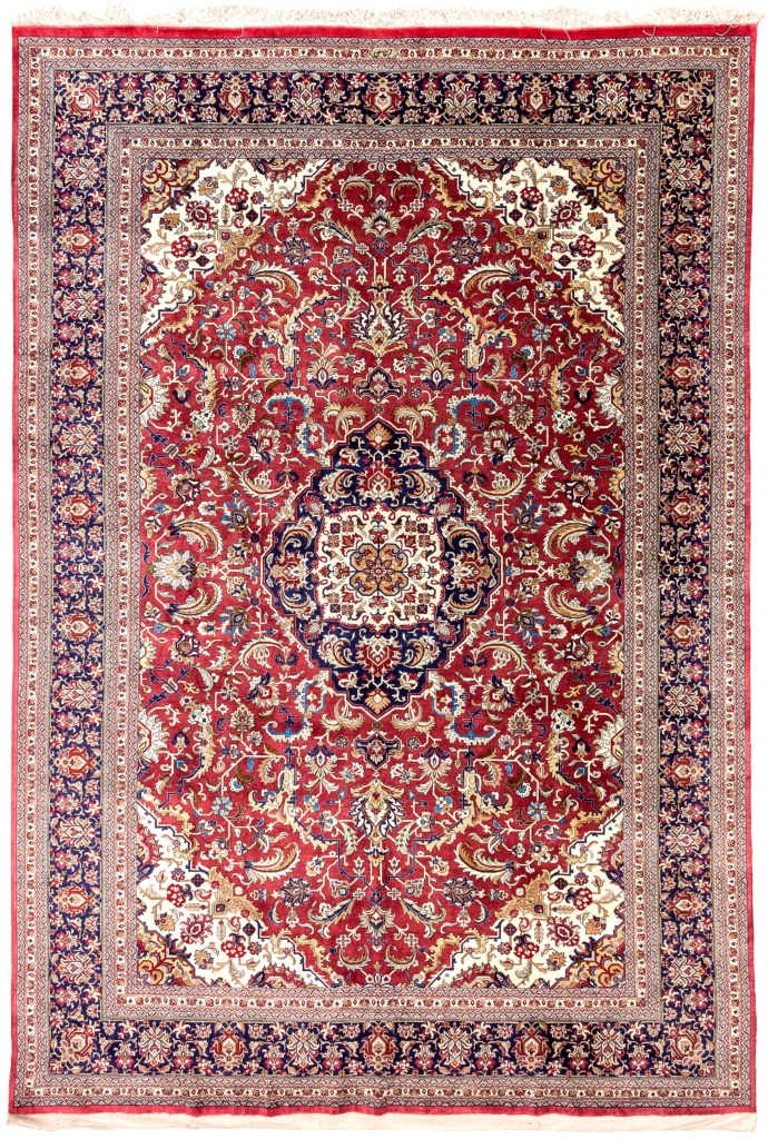 Very Fine, Signed Persian Tabriz Carpet at Essie Carpets, Mayfair London