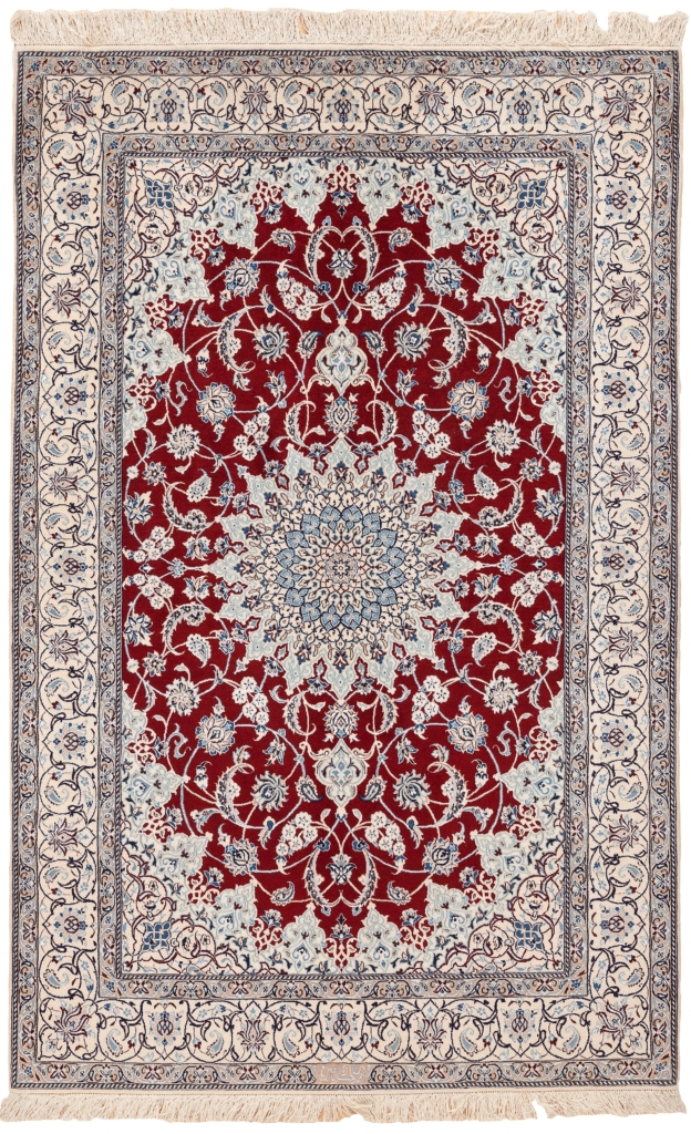 Fine, Signed Persian Nain Rug at Essie Carpets, Mayfair London