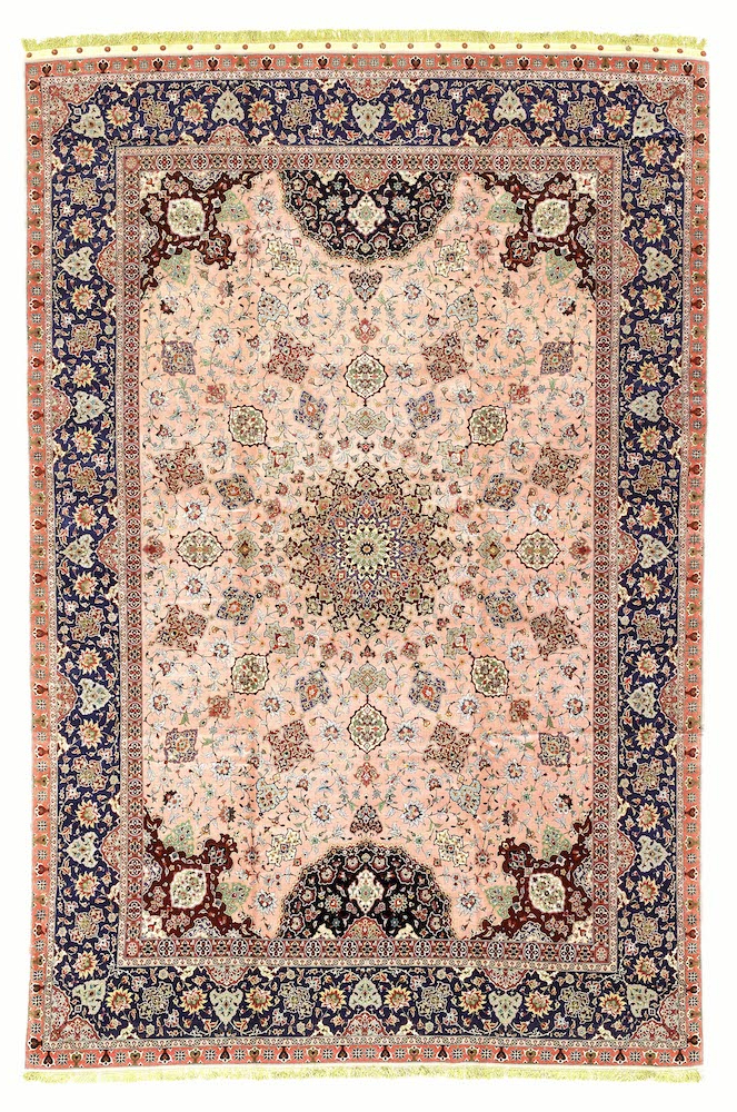 Pink Persian Tabriz Extra Large Carpet