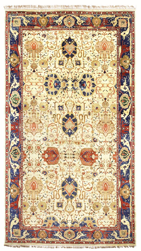 A Large Indian Agra Carpet