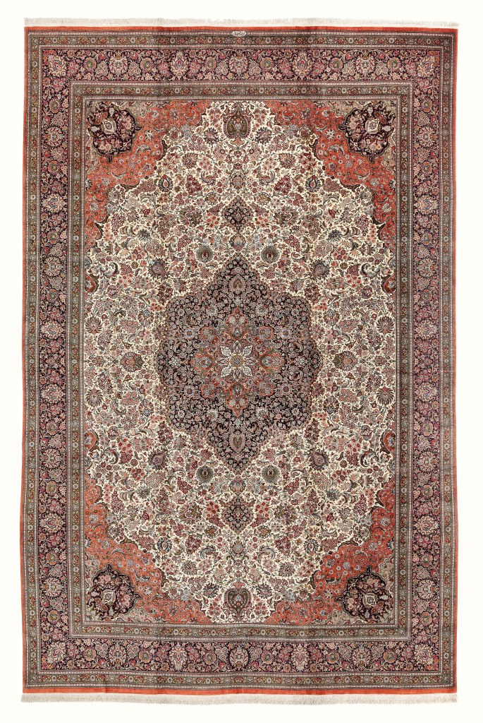 Extremely Fine Persian Qum Extra Large Carpet at Essie Carpets, Mayfair London
