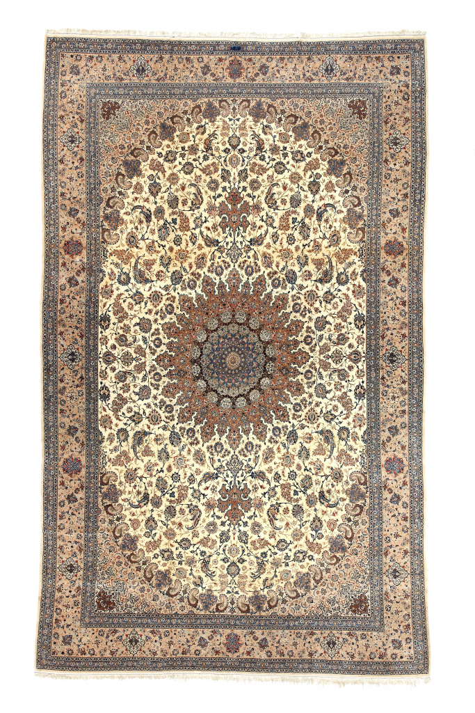 Fine Signed Persian Nain Extra Large Carpet at Essie Carpets, Mayfair London