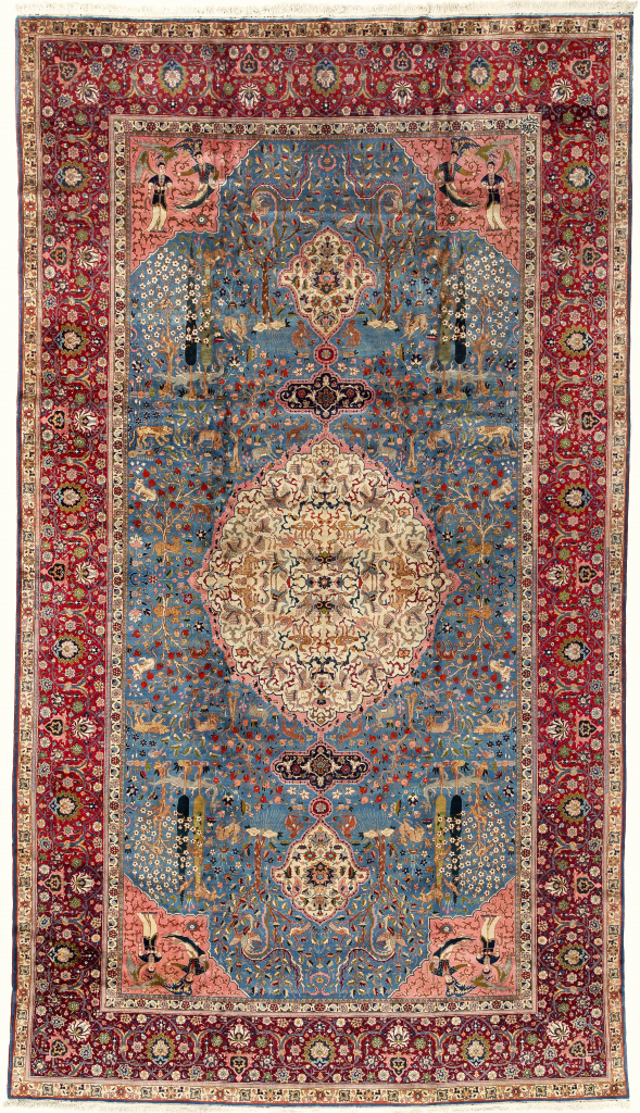 Large Persian Gallery Carpet Extra-Large Oversize Oriental Iranian Tabriz Rug Fine Antique Approx 6x3.5m (20x11ft) at Essie Carpets, Mayfair London 5048