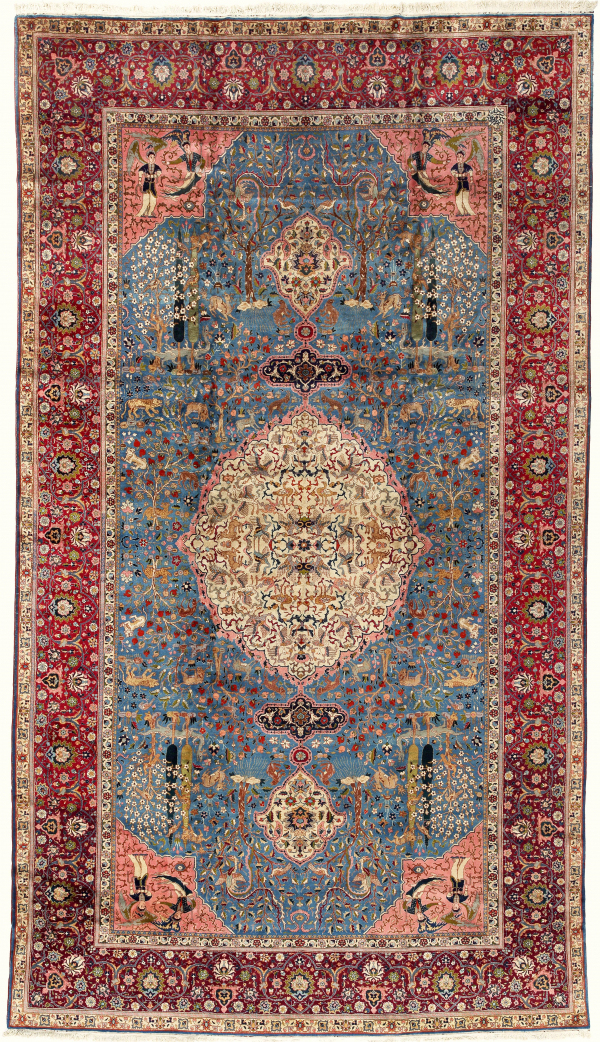 Large Persian Gallery Carpet Extra-Large Oversize Oriental Iranian Tabriz Rug Fine Antique Approx 6x3.5m (20x11ft)  at Essie Carpets, Mayfair London