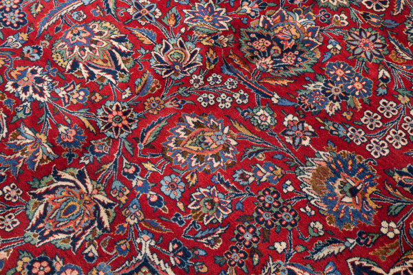 Fine Persian Kashan Carpet - Oversize - Wool - Approx 4.5x3m (14x11ft) Central Medallion Dark Complexion on red base