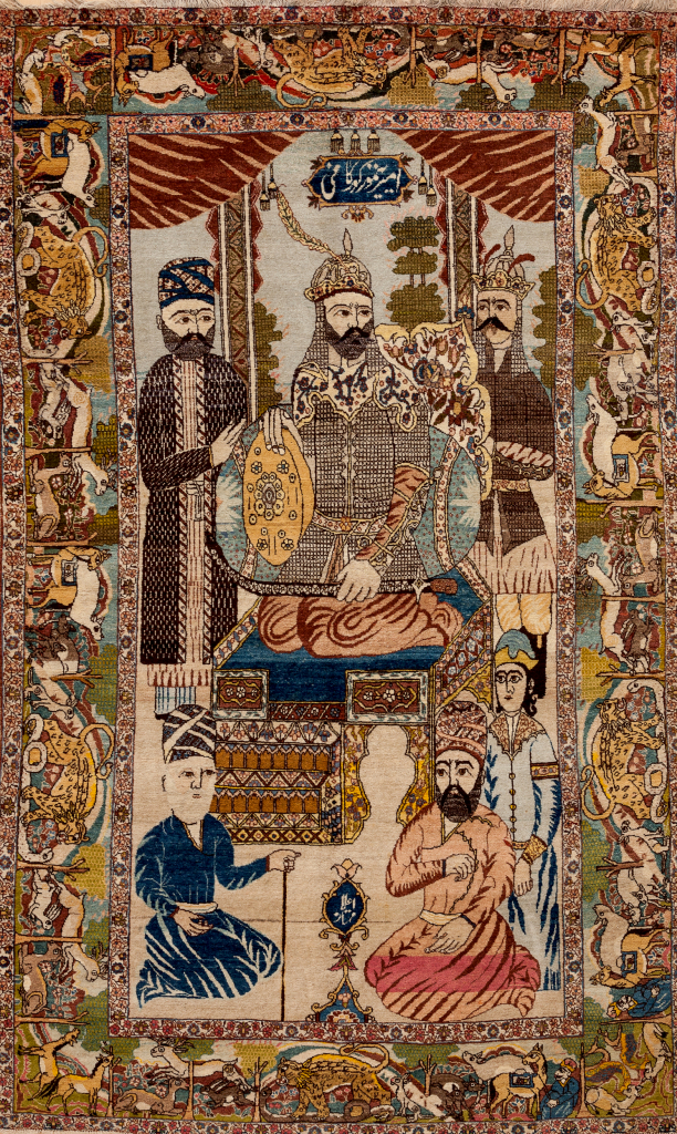 Persian Tabriz Antique Pictorial - Fine Rug - Scene depicting royal court - Approx 2.5x1.5m (8x5ft) Light complexion with soft colour palette