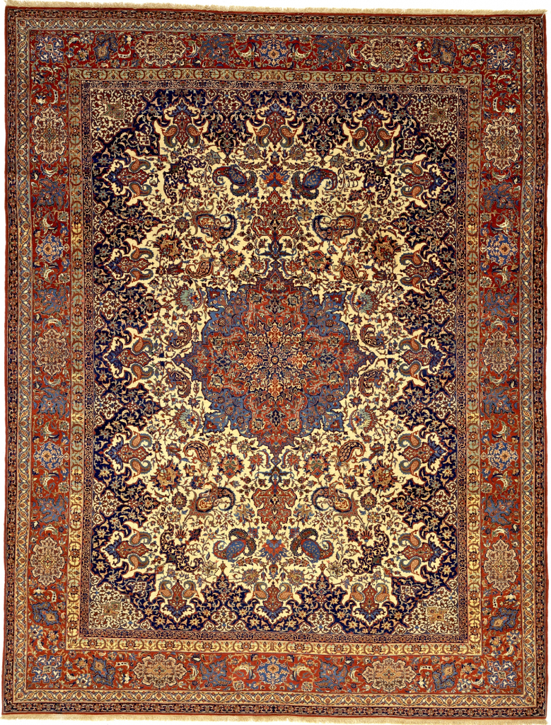 Persian Isfahan Carpet - Exceptionally Fine