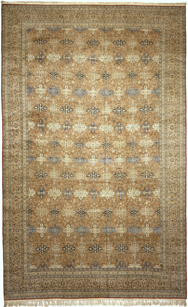 Persian Nain Extra-Large Carpet - Mansion Size - Fine Silk and Wool