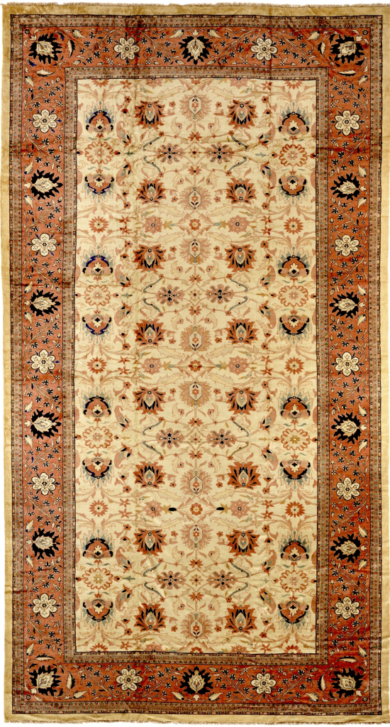 Persian Mahal Extra-Large Gallery Carpet - Palace Size - Wool