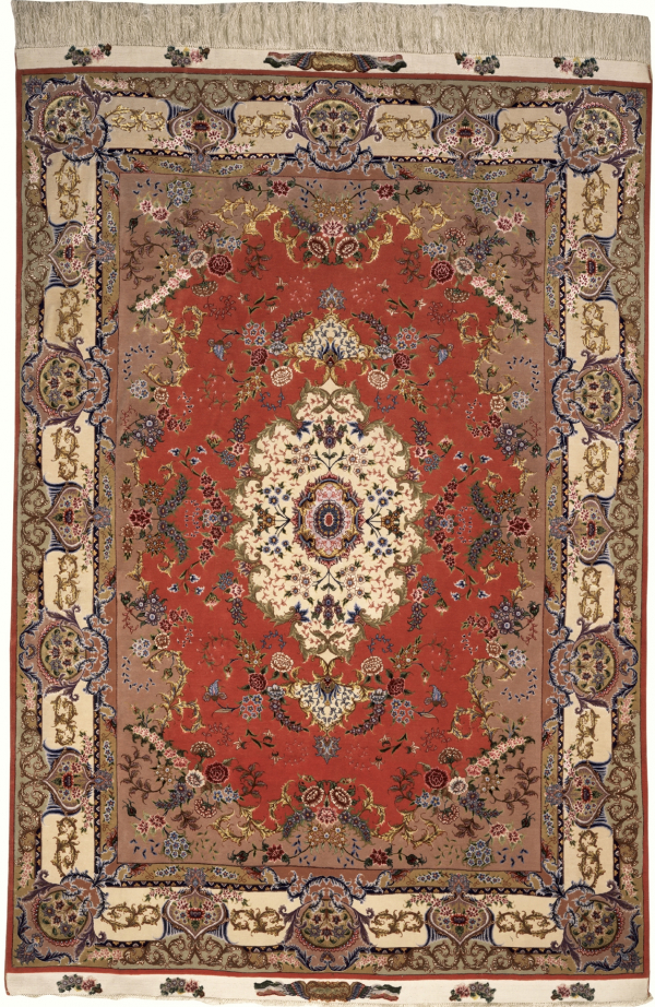 Persian Tabriz Signed Rug - Silk and Wool